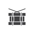 Snare drum icon vector, filled flat sign, solid pictogram isolated on white. Symbol, logo illustration.