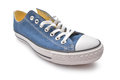 Sneaker blue isolated on white Stock Image