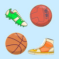 Sneakers icon in flat style isolated on white background. Shoes symbol stock vector illustration
