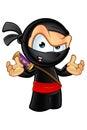 Sneaky looking ninja character an illustration of a cartoon Stock Photos