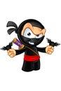 Sneaky looking ninja character an illustration of a cartoon Royalty Free Stock Photo