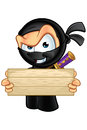 Sneaky looking ninja character an illustration of a cartoon Royalty Free Stock Images