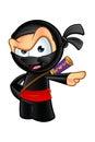 Sneaky looking ninja character an illustration of a cartoon Stock Image