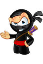 Sneaky looking ninja character an illustration of a cartoon Royalty Free Stock Photo