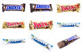 Snickers chocolate bar Royalty Free Stock Photo