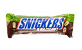 Snickers chocolate bar odessa ukraine september with hazelnuts and peanuts isolated on white background bars are produced Royalty Free Stock Photos