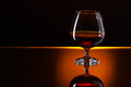 Snifter with brandy Royalty Free Stock Photo