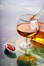 Snifter of cognac Royalty Free Stock Photos