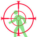 Sniper rifle sight or scope Royalty Free Stock Photo