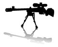Sniper rifle on a white background Stock Photography