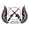 Sniper rifles icon with the illustration on a white background Royalty Free Stock Photo