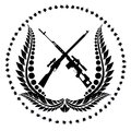Sniper rifles icon with the illustration on a white background Stock Photo