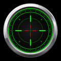 Sniper scope green and red cross hairs Royalty Free Stock Photos