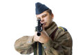 Sniper second world war isolated Stock Photography