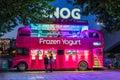 Snog's frozen yogurt shop on London's Southbank Royalty Free Stock Photo