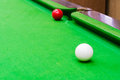Snooker ball on the table Royalty Free Stock Photos