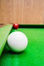 Snooker ball on the table Royalty Free Stock Photography
