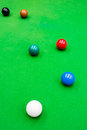 Snooker ball on the table Royalty Free Stock Image