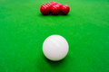 Snooker ball on the table Stock Photos