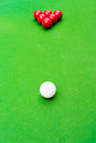 Snooker ball on the table Stock Photography