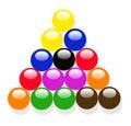 The snooker balls
