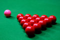 Snooker balls closeup shot of on table Stock Photos
