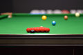 Snooker balls on a green table Stock Image