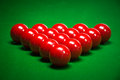 Snooker balls set on a green table Royalty Free Stock Photos
