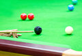 Snooker balls on table Royalty Free Stock Photo