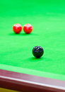 Snooker balls on table Royalty Free Stock Image