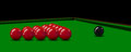 Snooker balls on the table. Vector illustration Royalty Free Stock Photo