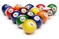 Snooker billiard balls pyramid
