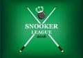 Snooker league emblem on a green background
