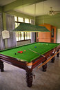 Snooker table professional in a playing room Stock Photos