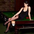 Snookermädchen Lizenzfreie Stockfotos