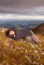 Snooze on top of the world 02 Stock Photos