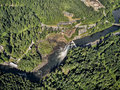 Snoqualmie Falls from above Royalty Free Stock Photo