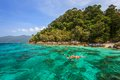 Snorkel diving at koh lipe of andaman sea thailand Royalty Free Stock Photography