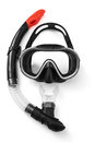 Snorkel and mask for diving on white background Stock Photo
