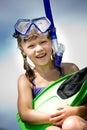 Snorkeling girl Royalty Free Stock Photo
