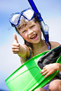 Snorkeling girl Royalty Free Stock Photo