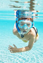 Snorkeling splendidly Stock Image