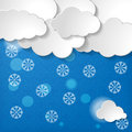 Snow background or forecast of snowly winter christmas Stock Photos
