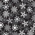 Snow black pattern intense white dark background patern for texture on a winter theme Stock Photos