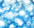 Snow Blue Winter Bokeh Background Royalty Free Stock Images