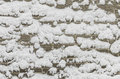 Snow on a brick wall Royalty Free Stock Photo