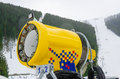 Snow Cannon Making Artificial Snow