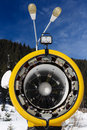 Snow Cannon For Production Of Snow On Ski Slopes