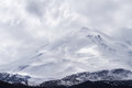 Snow capped Elbrus mountain Royalty Free Stock Photo