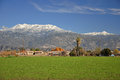 Snow-capped Mount San Jacinto Stock Image